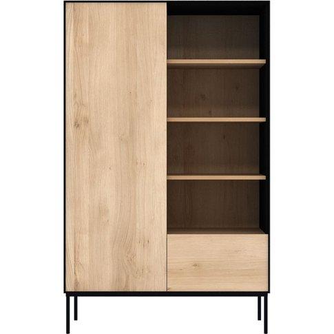 Ethnicraft Oak Blackbird 1 Door 1 Drawer Storage Cup...
