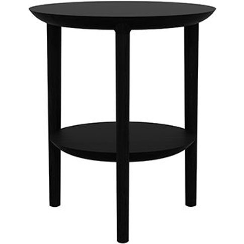 Ethnicraft Oak Bok Black Side Table
