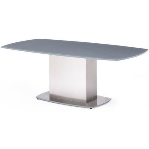 Olivia Grey Glass Coffee Table With Stainless Steel ...