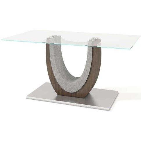 Oscar Dining Table - Walnut And Glass