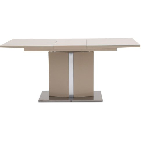Silvio Cream High Gloss Dining Table With Glass Top ...