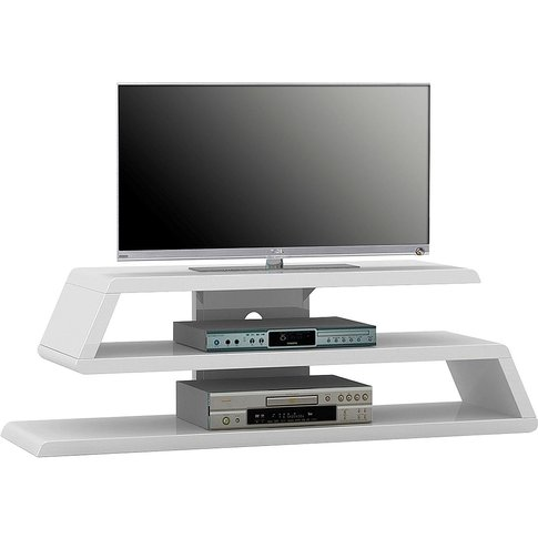 Sven White High Gloss Tv Unit