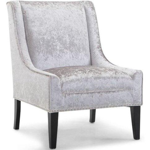 Tessa Silver Velvet Lounge Chair