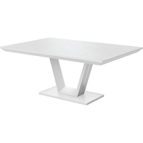 Vivaldi Matt White Dining Table