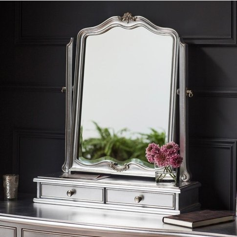 Frank Hudson Chic Silver Dressing Table Mirror