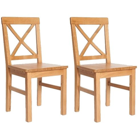 York Oak Solid Seat Dining Chair