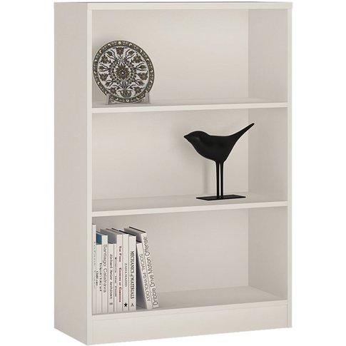 4 You Pearl White Medium Wide Bookcase
