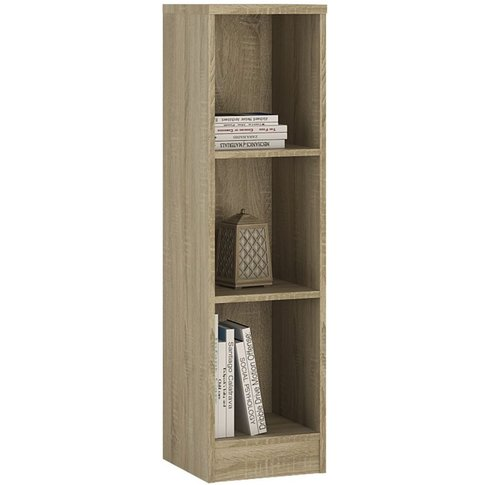 Mario Sonama Oak Bookcase - Medium Narrow