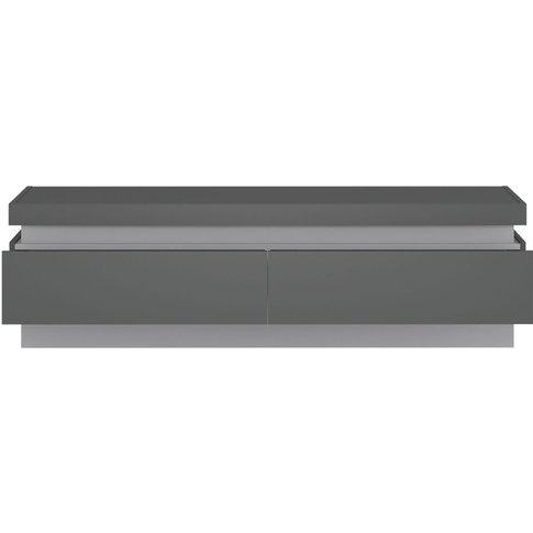 Calabria Platinum And Light Grey Gloss Tv Cabinet - ...