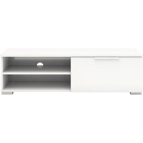 Match Tv Unit - White High Gloss