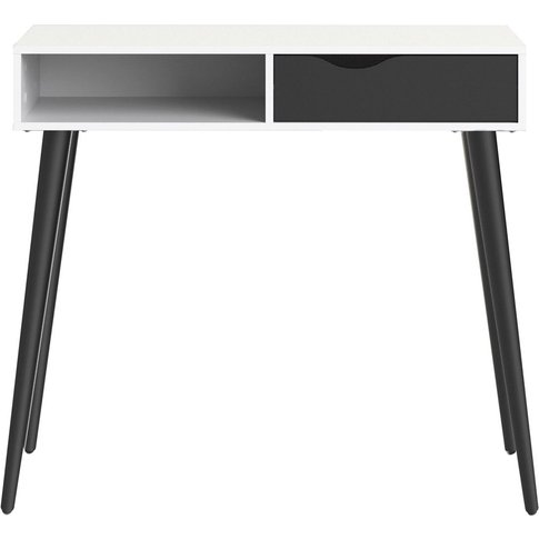 Oslo Console Table - White And Black Matt