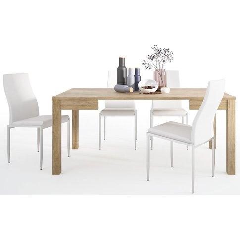 Shetland Oak Extending Dining Table And 6 Milan Whit...