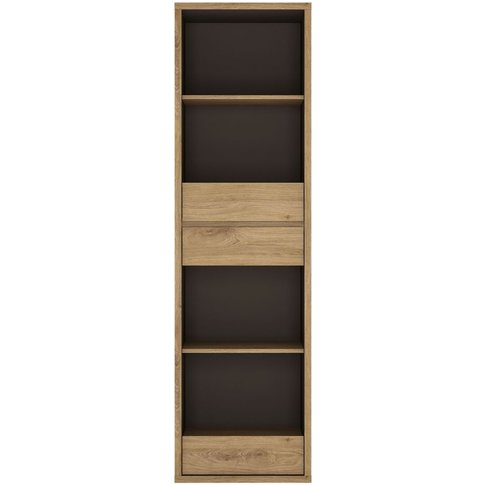 Prato Bookcase - Tall Narrow 3 Drawer