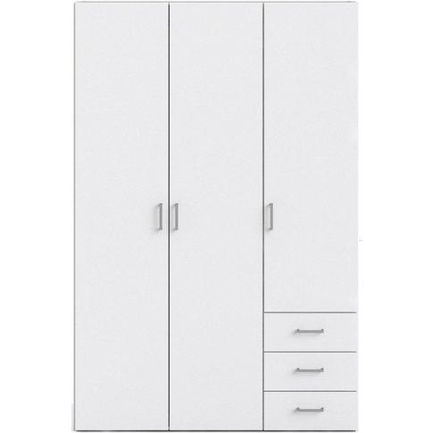Space White 3 Door 3 Drawer Wardrobe