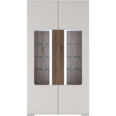 Largo Glazed Display Cabinet - Tall Wide 2 Door With...