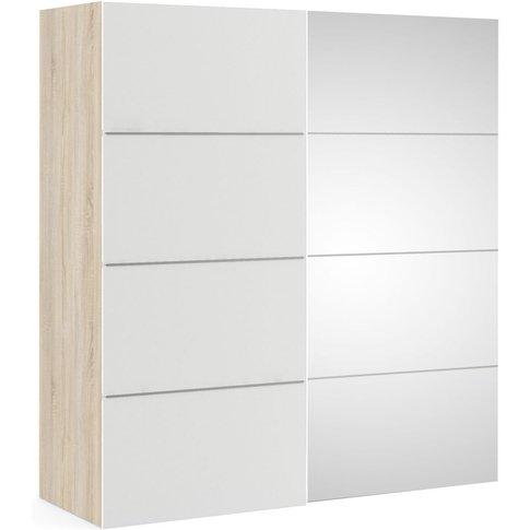Verona 2 Door 5 Shelves Sliding Wardrobe W 180cm - O...