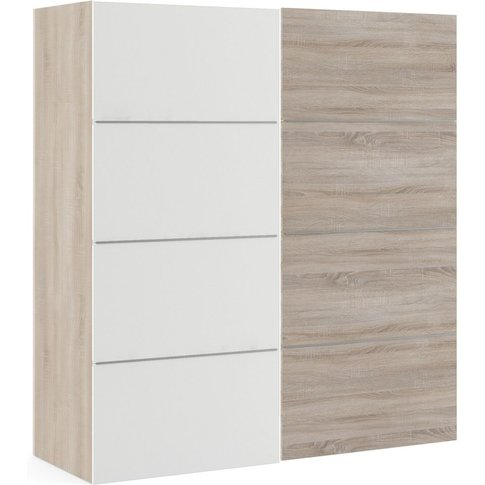 Verona 2 Door 5 Shelves Sliding Wardrobe W 180cm - T...