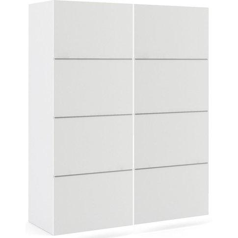 Verona 2 Door Sliding Wardrobe W 120cm - White