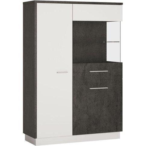 Zingaro Low Right Hand Facing Display Cabinet - Slat...