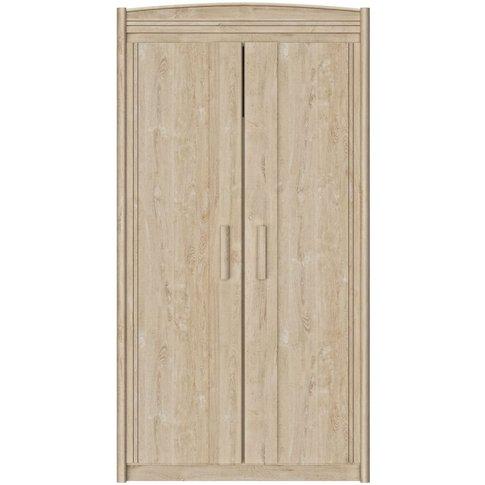 Gami Montana Blond Oak 2 Door Wardrobe