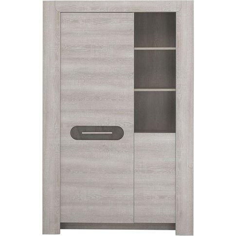 Gami Sandro Ceruse Oak Display Cabinet