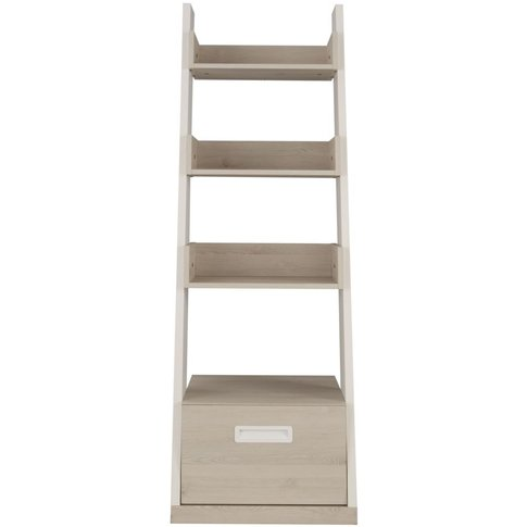 Gami Tiago Bookcase - White And Bleached Pine