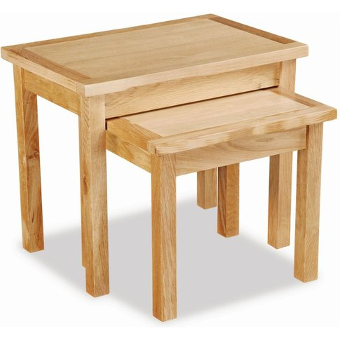 Global Home New Trinity Oak Nest Of Tables