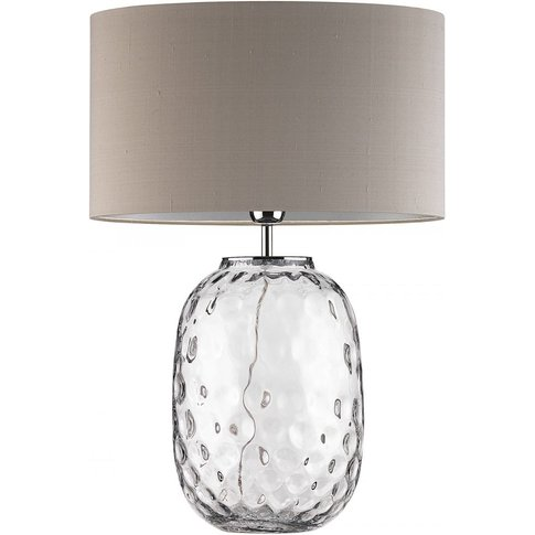 Heathfield Bubble Clear Glass Table Lamp With Pebble...