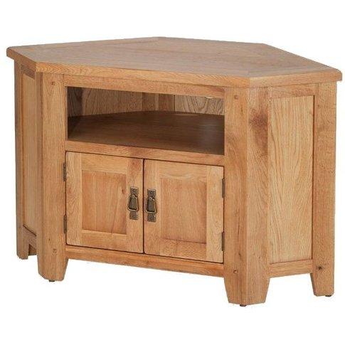 Cherington Oak Corner Tv Video Cabinet