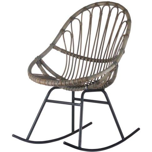 Hill Interiors Bali Rattan Rocking Chair