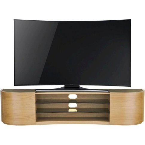 Tom Schneider Undulate Oak 2 Door Tv Stand
