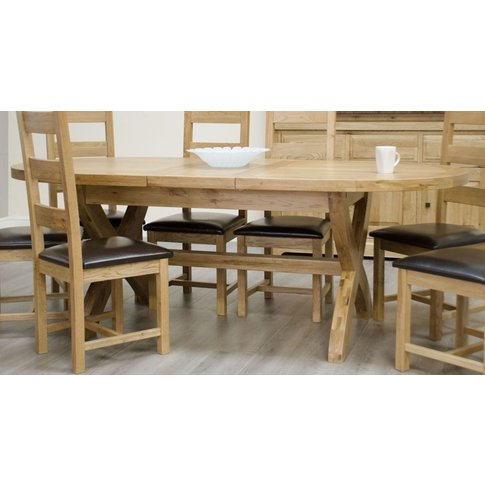 Homestyle Homestyle Gb Deluxe Oak Oval Extending Din...