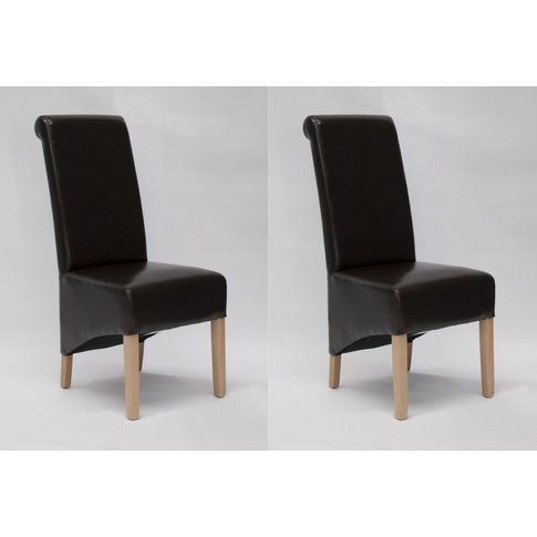 Homestyle Richmond Brown Leather Dining Chair