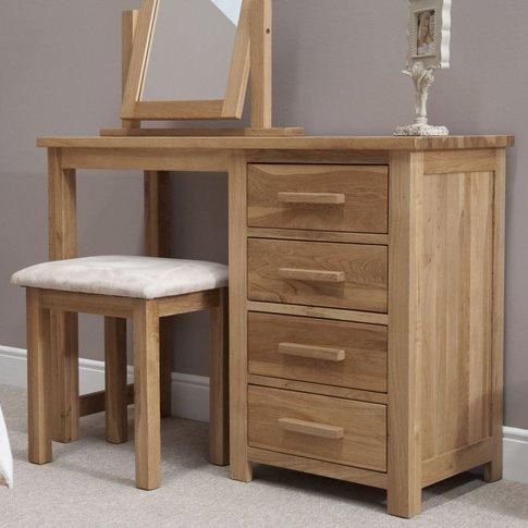 Homestyle GB Opus Oak Single Pedestal Dressing Table...