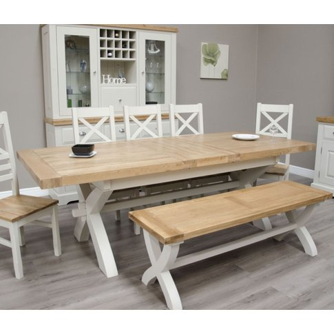 Homestyle Gb Painted Deluxe X-Leg Extending Dining T...