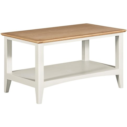 Lowell Oak And White Painted Coffee Table