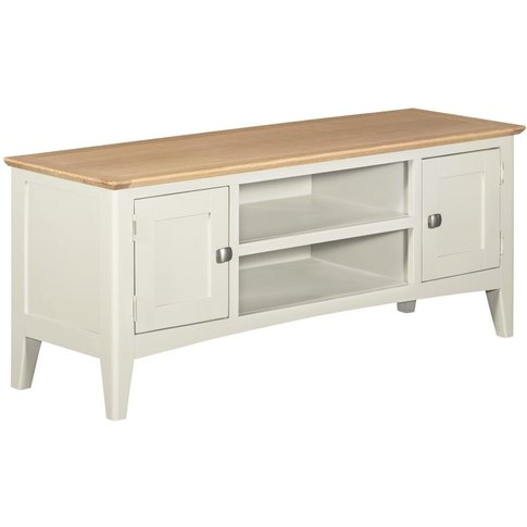 Lowell Oak And White Painted Large Tv Unit