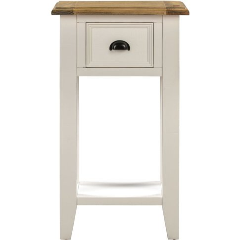 Farmhouse Painted 1 Drawer Console Table