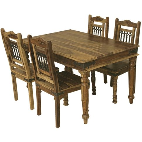 Thacket Sheesham Dining Table - 4 Seater