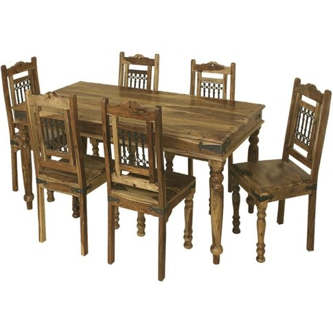 Thacket Sheesham Dining Table - 6 Seater