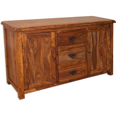 Villa Rustic Sheesham Sideboard - 2 Door 3 Drawer