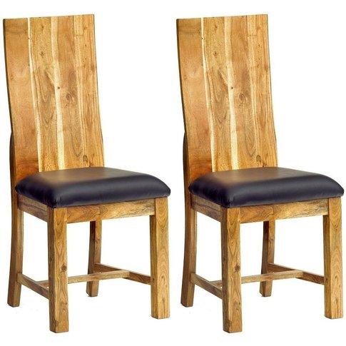 Indian Hub Baltic Live Edge Dining Chair (Pair)