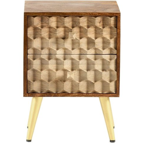 Indian Hub Edison Side Table - Two Tone