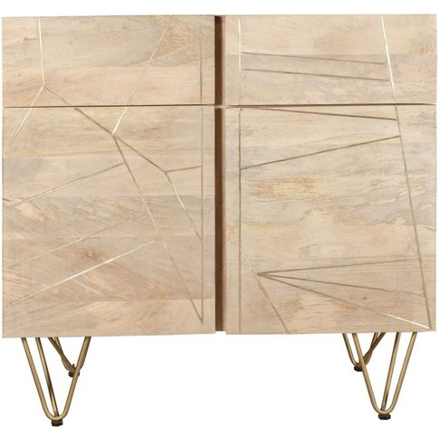 Indian Hub Light Gold Sideboard