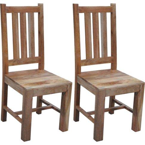 Jaipur Dakota Light Mango Wood Dining Chair (Pair)