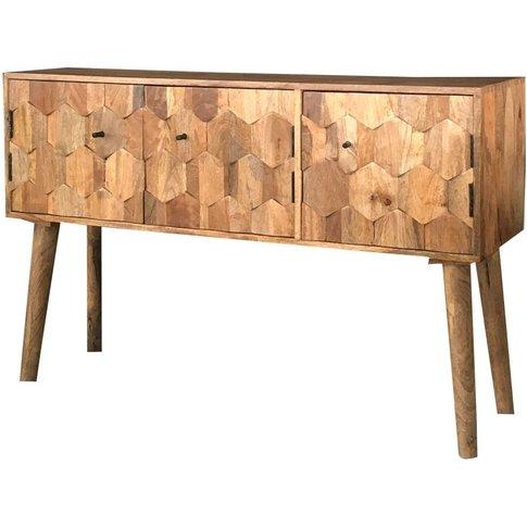 Jaipur Hexagonal Mango Wood Large Sideboard