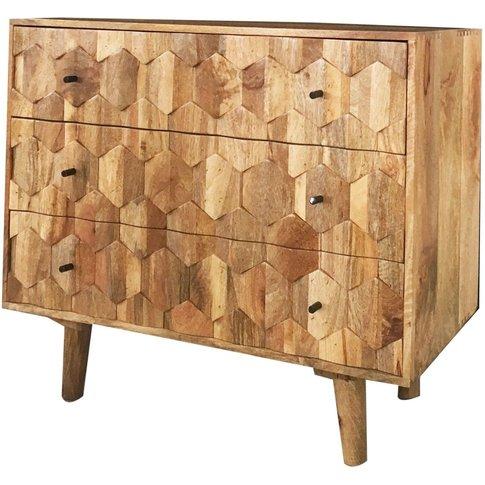 Jaipur Hexagonal Mango Wood 3 Drawer Chest