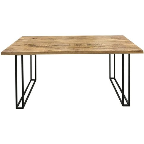 Jaipur Industrial Mango Wood And Iron Large Dining T...