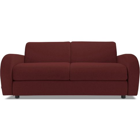 Jay-Be Retro Berry 3 Seater Sofa Bed with Deep Sprun...