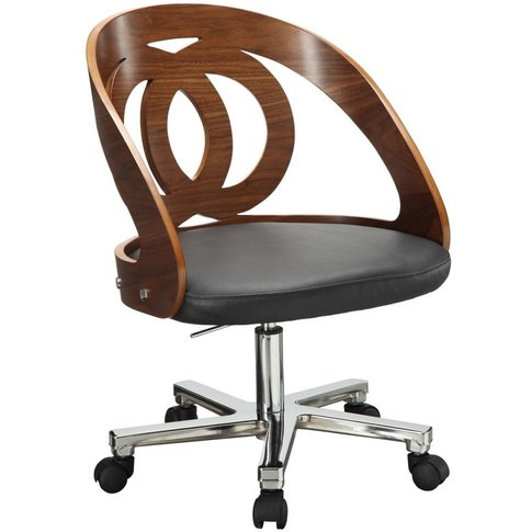 Jual Curve Walnut Office Chair Pc606